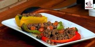 Pimentões Recheados com Carne