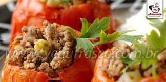 Tomate Recheado com Carne Moída