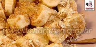 Sobremesa de Banana com Paçoca