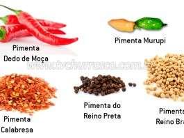 Tipos de Pimentas - Parte 1 - Pimentas Suaves