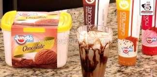 Café Gelado com Sorvete de Chocolate