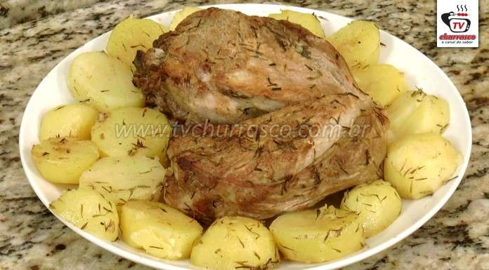 Churrasco de Pernil no Forno