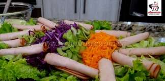 Como Fazer Salada Para Churrasco Com Peito De Peru