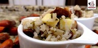 Como Fazer Arroz com Pinhão, Carne e Couve