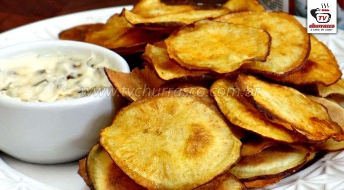 Como Fazer Chips de Batata Doce (Batata Chips de Batata Doce)