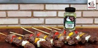 Como Fazer Espetinho de Carne com Legumes (Cubos da Paleta)