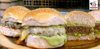 Como Fazer Hambúrguer de Fraldinha com Provoleta (Hambúrguer Caseiro)