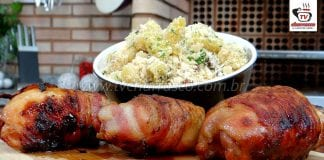 Como Fazer Frango com Bacon e Farofa de Banana Prata