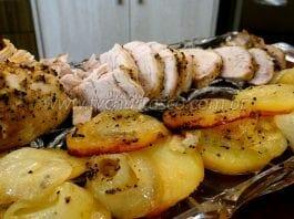 Como Fazer Filé Mignon Suíno Assado com Batatas